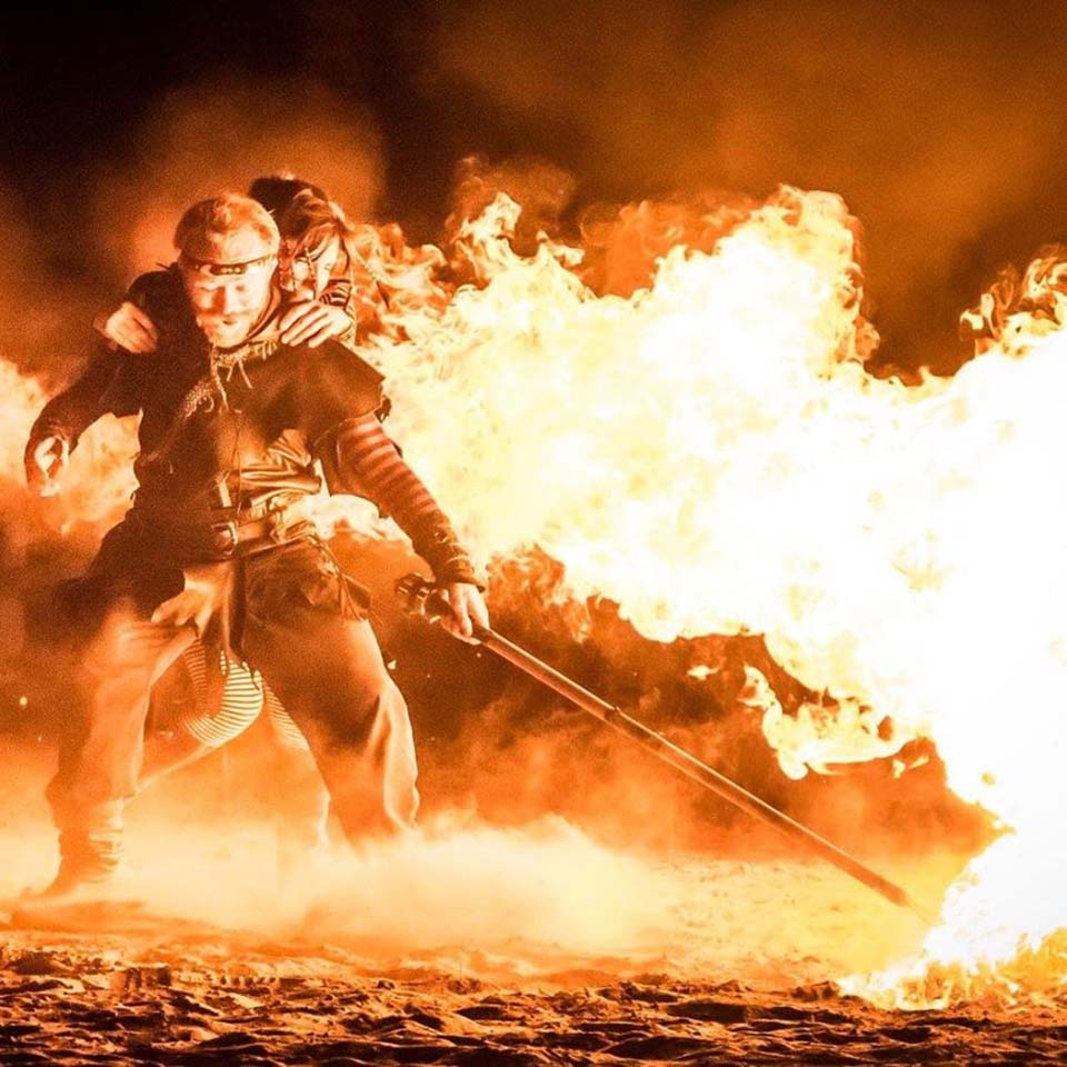 fire dancers austin